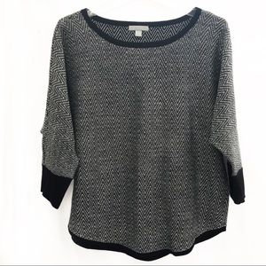 Soft sweater, large, NY & Co in black and white
